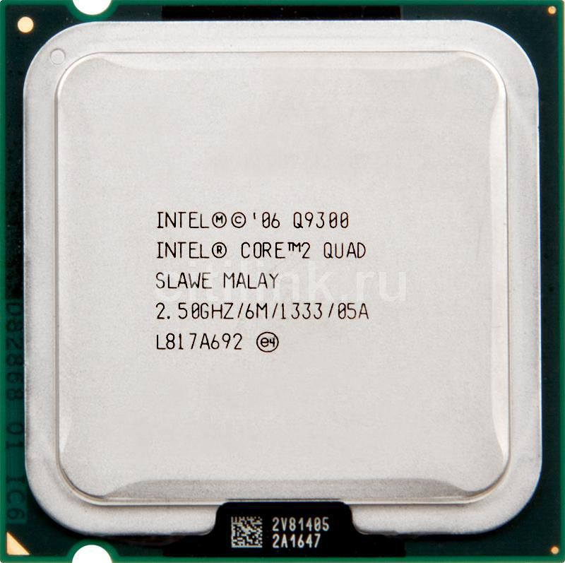 Процессор INTEL Core 2 Quad Q9300, LGA 775 OEM [eu80580pj0606m]
