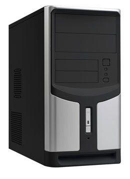 Корпус mATX LINKWORLD C.2228 437-12, 350Вт,  черный и серебристый