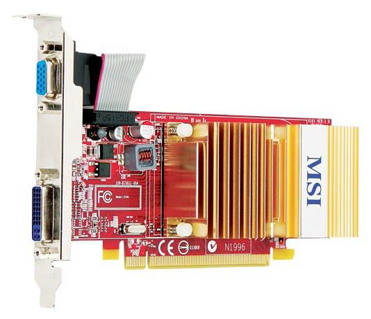Видеокарта MSI Radeon HD 4350,  512Мб, DDR2, Low Profile,  Ret [r4350 md512h]