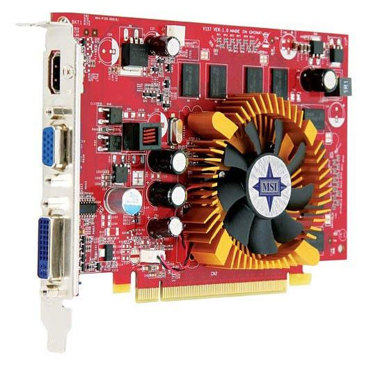 Видеокарта MSI GeForce 9400 GT,  1Гб, DDR2, Ret [n9400gt-md1g]