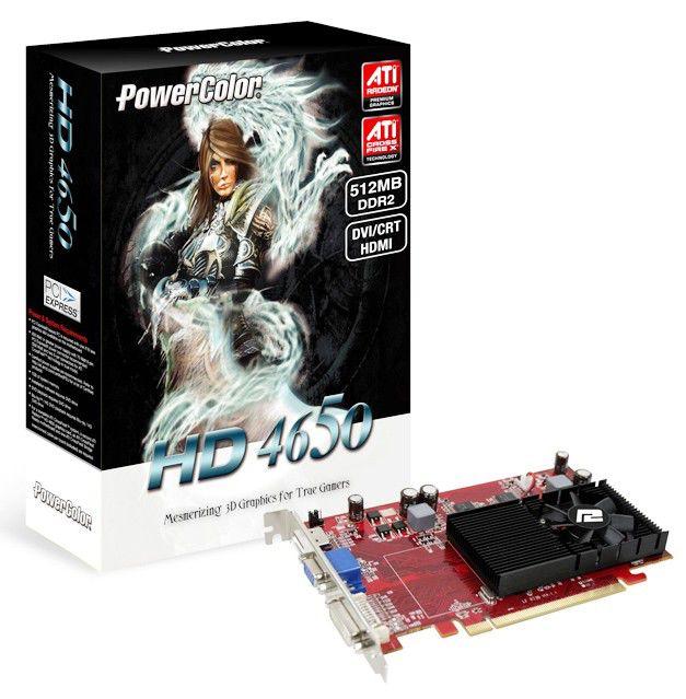 Видеокарта POWERCOLOR Radeon HD 4650,  512Мб, DDR2, oem [ax4650 512md2-h]