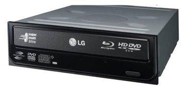 Оптический привод Blu-Ray&HD-DVD(combo) LG GGC-H20L, внутренний, SATA, черный,  OEM [ggc-h20l.auau01b]
