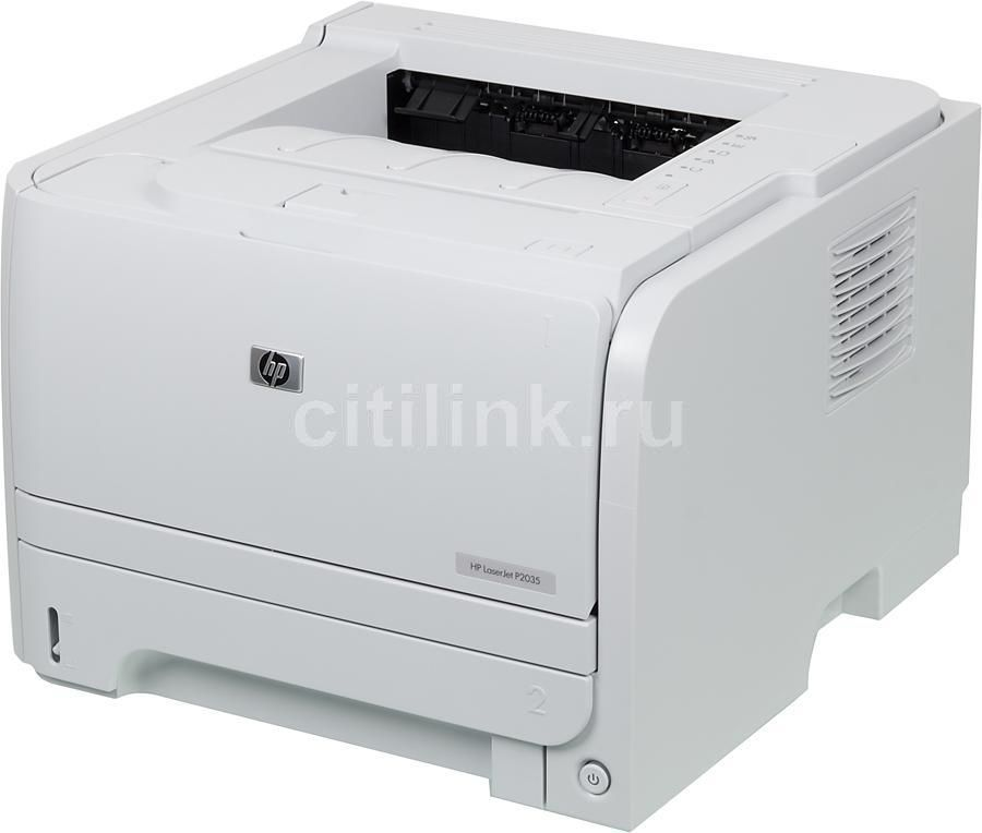 Принтер HP LaserJet P2035 лазерный, цвет:  белый [ce461a]