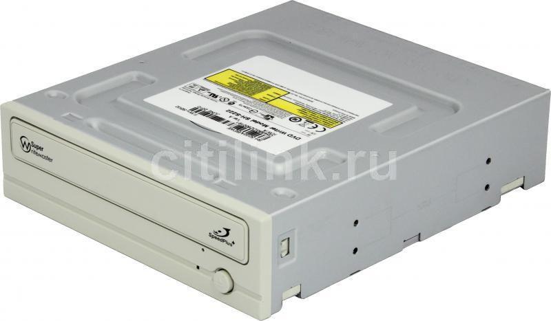 Оптический привод DVD-RW SAMSUNG SH-S222A/BEWE, внутренний, IDE, белый,  OEM