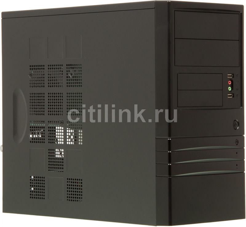 Корпус mATX FOXCONN KS-136, Mini-Tower, 400Вт,  черный и серебристый