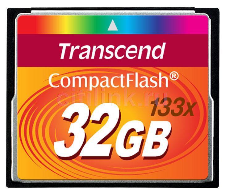 Карта памяти CF TRANSCEND 32 ГБ, 133X, TS32GCF133,  1 шт.