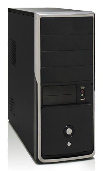 Корпус ATX FOXCONN ZL-699 IRU, 400Вт,  черный и серебристый