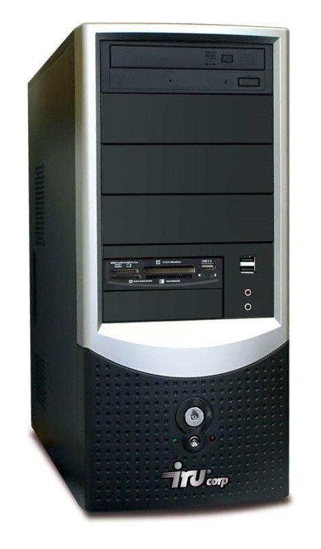 IRU Ergo Corp 124W,  Intel  Core2 Duo  E7400,  DDR2 2Гб, 250Гб,  Intel GMA X3100,  DVD-RW,  CR,  Windows XP Professional,  черный