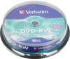Оптический диск DVD-RW VERBATIM 4.7Гб 4x, 10шт., cake box [43552] вид 1