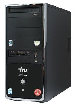 ПК iRU Brava 733i Q9400(2660)/3072/ 640/G9800GT-512/DVD-RW/CR/black