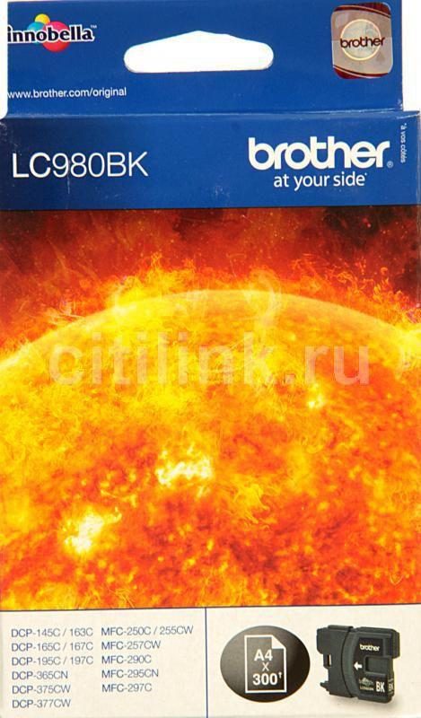 Картридж BROTHER LC980BK черный
