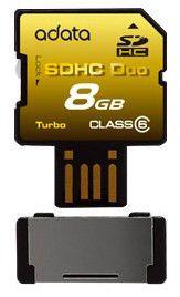Карта памяти SDHC A-DATA 8 ГБ, Class 6, 1 шт.