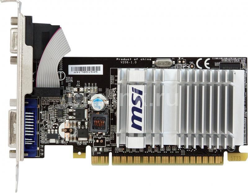 Видеокарта MSI GeForce 8400 GS,  512Мб, DDR2, Low Profile,  Ret [n8400gs-d512h]