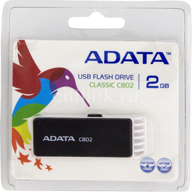 Флешка USB A-DATA Classic C802 2Гб, USB2.0, черный