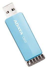 Флешка USB A-DATA Classic C802 8Гб, USB2.0, голубой и белый [ac802-8g-rbl]