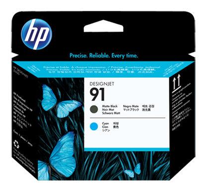 Печатающая головка HP №91 черный матовый / голубой [c9460a]