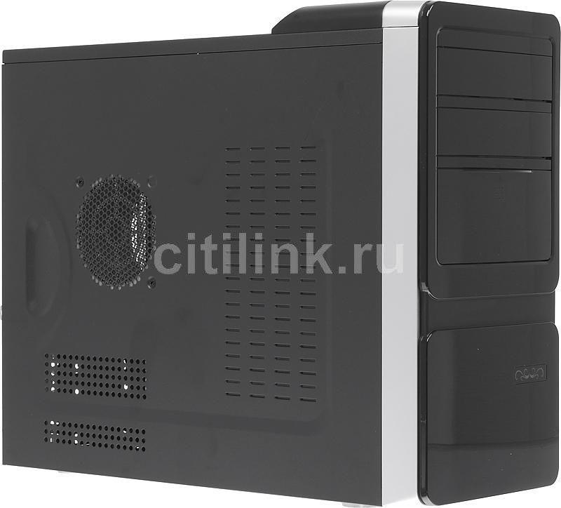 Корпус mATX FOXCONN TLM-069, Mini-Tower, 400Вт,  черный и серебристый