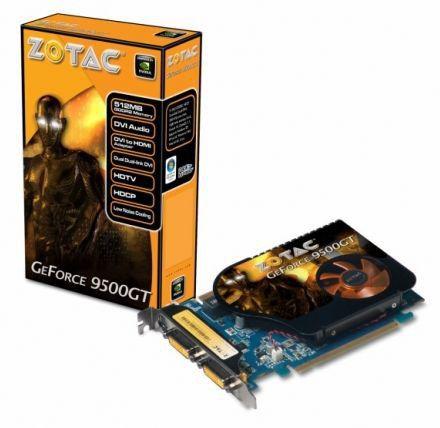 Видеокарта ZOTAC GeForce 9500 GT,  512Мб, DDR2, Ret [zt-95teh2p-fsl]