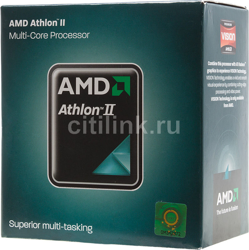 Процессор AMD Athlon II X2 250, SocketAM3 BOX [adx250ocgmbox]