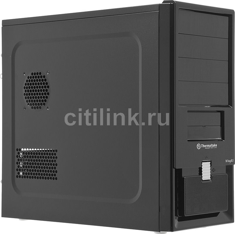Корпус ATX THERMALTAKE Wing RS 200 VJ70001N2Z, Midi-Tower, без БП,  черный