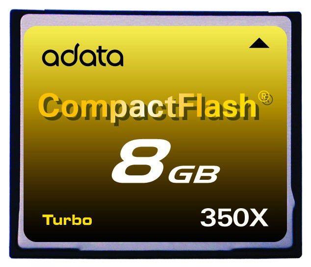 Карта памяти CF A-DATA 8 ГБ, 350X, 1 шт.