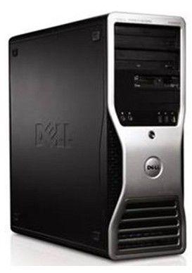 DELL Precision T3500,  Intel  Xeon  W3503,  DDR3 2Гб, 160Гб,  nVIDIA Quadro FX 580 - 512 Мб,  DVD-RW,  Windows Vista Business,  черный и серебристый
