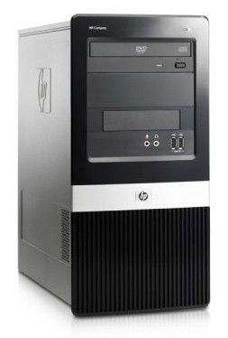 HP dx2420MT,  Intel  Core2 Duo  E7500,  DDR2 2Гб, 320Гб,  Intel GMA X3100,  DVD-RW,  CR,  Windows Vista Business,  черный [vc487ea]