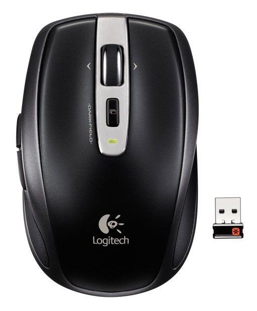 Мышь LOGITECH Anywhere MX лазерная беспроводная USB, черный [910-000904]