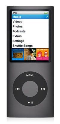 MP3 плеер APPLE iPod Nano 4TH GEN flash 8Гб черный [mb754]