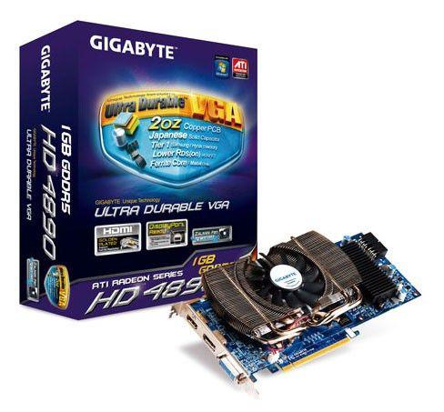 Видеокарта GIGABYTE Radeon HD 4890,  1Гб, DDR5, OC,  Ret [gv-r489oc-1gd]