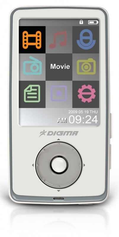 MP3 плеер DIGMA Insomnia2 flash 8Гб белый