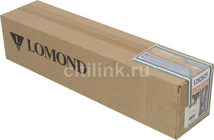 """Бумага Lomond 1202025 24""""(A1) 610мм-30м/120г/м2/белый матовое для струйной печати"""
