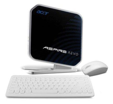 ACER Aspire Revo R3610,  Intel  Atom  330,  DDR2 4Гб, 500Гб,  nVIDIA GeForce 9400 M,  CR,  Windows 7 Home Premium,  белый и черный [92.nvfyz.r2n]