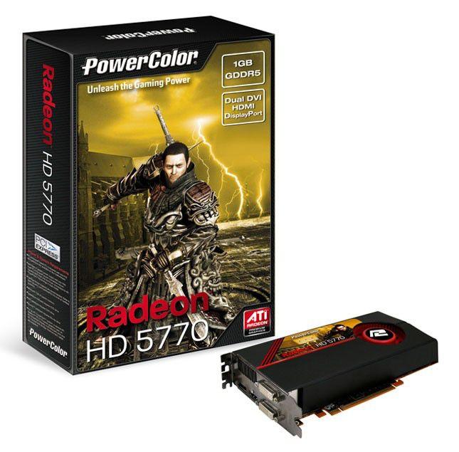 Видеокарта POWERCOLOR Radeon HD 5770,  1Гб, DDR5, Ret [ax5770 1gbd5-mdh]