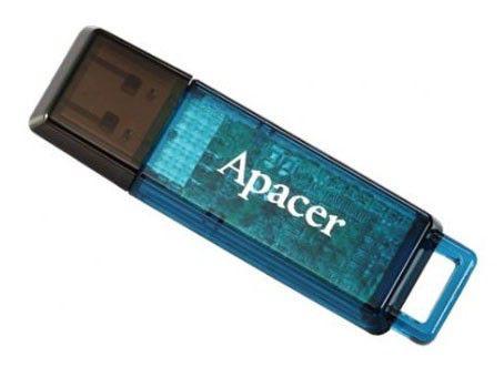Флешка USB APACER Handy Steno AH324 4Гб, USB2.0, голубой [ap4gah324u-1]