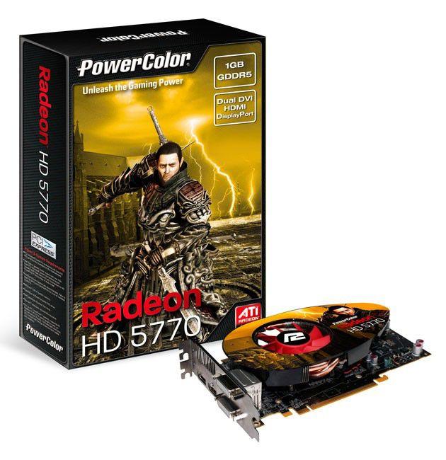 Видеокарта POWERCOLOR AMD  Radeon HD 5770 ,  1Гб, DDR5, Ret [ax5770 1gbd5-mdhv2]