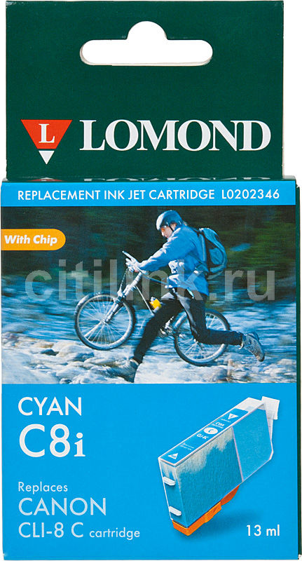 Картридж LOMOND CLI-8C (с чипом) голубой [l0202346]