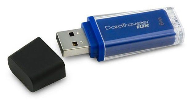 Флешка USB KINGSTON DataTraveler 102 8Гб, USB2.0, синий [dt102/8gb]