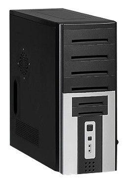 Корпус LinkWorld 326-07 IRU black/silver w/o PSU ATX USB audio