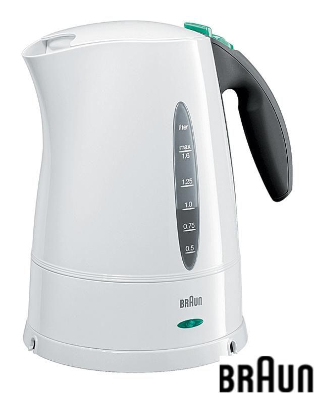 Чайник электрический BRAUN WK210, 2200Вт, белый