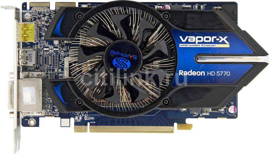 Видеокарта SAPPHIRE AMD  Radeon HD 5770 ,  1Гб, GDDR5, OC,  lite [11163-xx-20r]