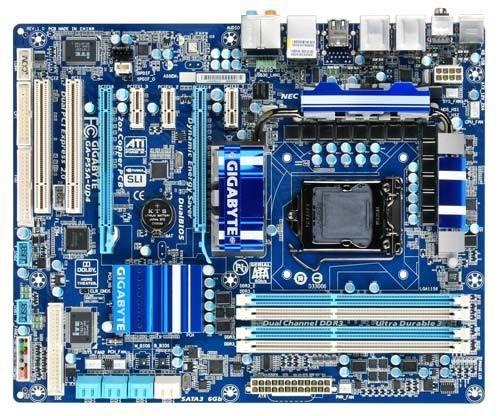 Материнская плата GIGABYTE GA-P55A-UD4, LGA 1156, Intel P55, ATX, Ret
