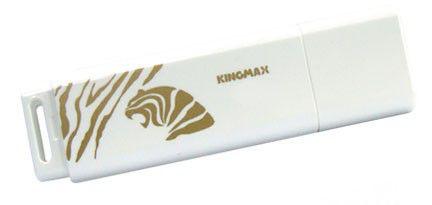 Флешка USB KINGMAX Super Stick 2010 Tiger 16Гб, USB2.0, белый и золотистый