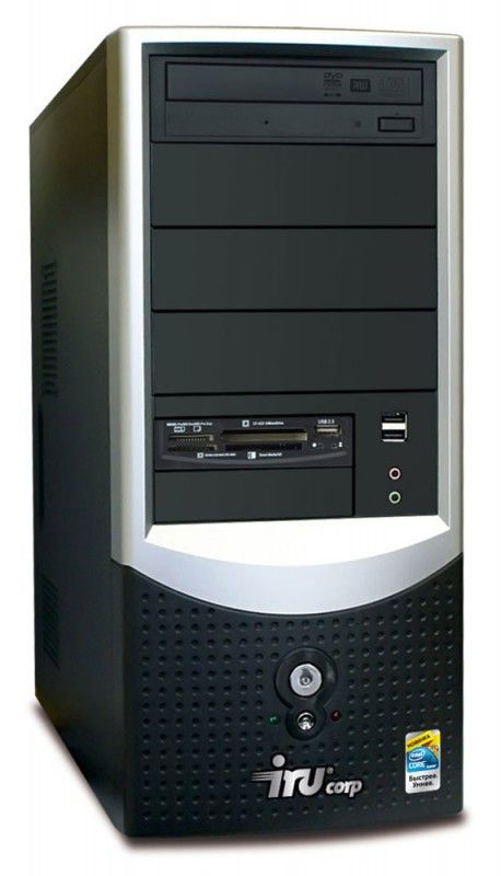 IRU Corp 515W,  Intel  Core2 Duo  E7400,  DDR2 2Гб, 250Гб,  ATI Radeon HD 4650,  DVD-RW,  CR,  Windows XP Professional,  черный