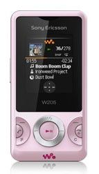 Музыкальный телефон SONYERICSSON W205  розовый