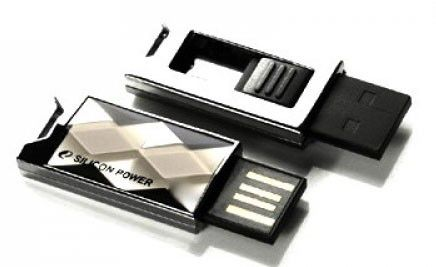 Флешка USB SILICON POWER Touch 850 4Гб, USB2.0, серебристый [sp004gbuf2850v1t]