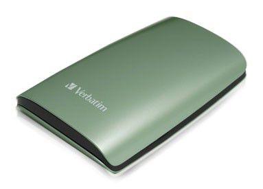 Внешний жесткий диск VERBATIM 320Гб, зеленый [47638]
