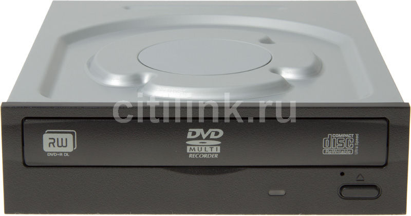 Оптический привод DVD-RW LITE-ON IHAS124-19, внутренний, SATA, черный,  OEM