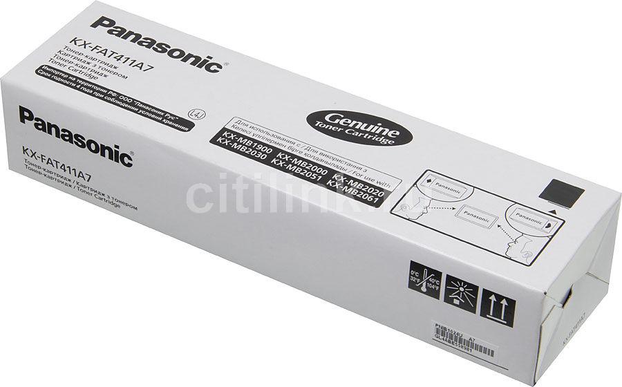Тонер Картридж Panasonic KX-FAT411A черный для Panasonic KX-MB1900/2000/2010/2020/2030/2051/206(Б/У)