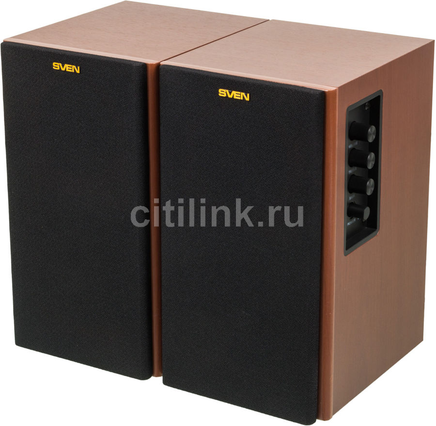 Колонки SVEN SPS-611S,  коричневый [sv-0120611swd]